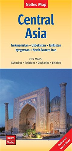 Central Asia Map (2015) (English, French And German Edition)