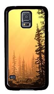 Samsung S5 case retro Smoggy Afternoon Art PC Black Custom Samsung Galaxy S5 Case Cover