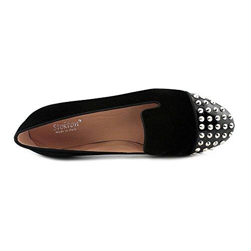 Metedera Bajo Zapato Mujeres Terciopelo Black Talla 1324 De Stokton Puntera qgwaq0