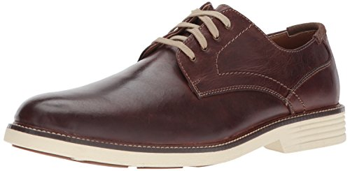 Dockers Men's Parkway Oxford, Red/Brown, 7.5 M US