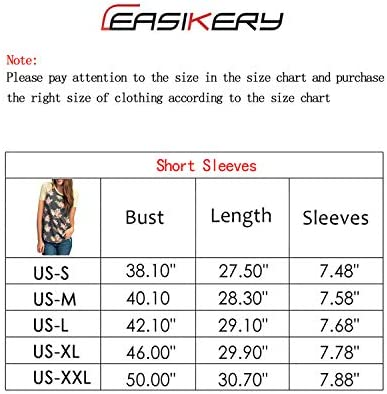 CEASIKERY Women's Blouse Short Sleeve Floral Print T-Shirt Comfy Casual Tops for Women 002
