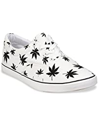 Mens Marijuana Weed Leaf Skate Shoe,White,11 D(M) US
