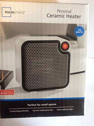 (Mainstays Personal Ceramic Heater, 250 Watts, White )