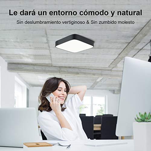 Lámpara LED Techo, bedee 24W Lámpara de Techo Plafon LED Techo Cuadrado Blanco Frío 5000K~5500K para Baño Dormitorio Cocina Sala de Estar Comedor Balcón Pasillo [Clase de eficiencia energética A++]