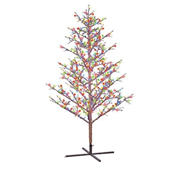 GE 8 ft. Winterberry 95 Branch Tips 500 Pre-Lit EnergySmart Super ...