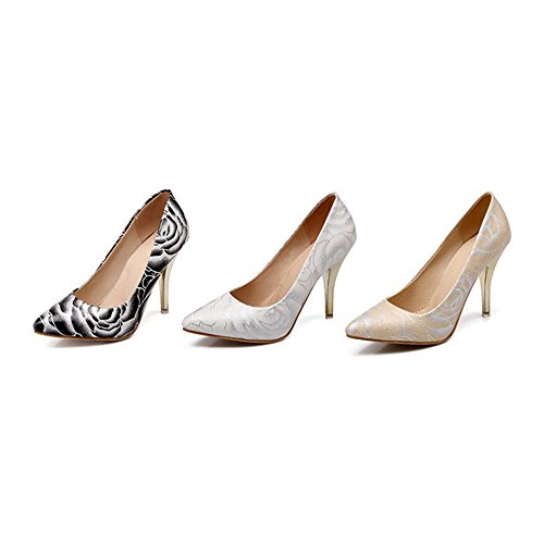 Thin Shoes High Shoes Pointed Heel white Women FHaBSB