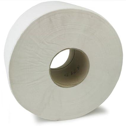 Mini Jumbo Rollos De Papel Higiénico 7.6cm - Paquete 12 2ply papel higiénico, Blanco