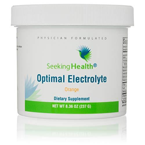 Optimal Electrolyte Orange   30 Powder Servings   Seeking Health   Electrolyte Powder Drink   Electrolyte Replacement