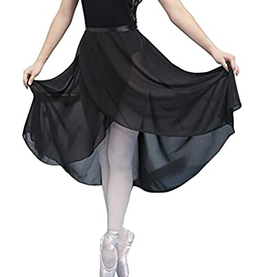 woosun Adult Ladies Sheer Wrap Skirt Ballet Skirt Women Dance Over Scarf Long Skirt 80cm Length
