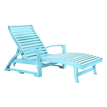CR Plastic St Tropez Chaise Lounge with Wheels  sc 1 st  Amazon.com : chaise lounge with wheels - Sectionals, Sofas & Couches