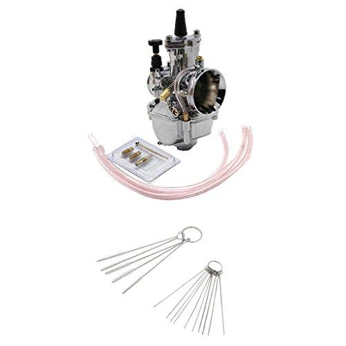 Homyl Carburador Power Jet con Herramienta de Limpieza para ATV Motos Diámetro 30mm