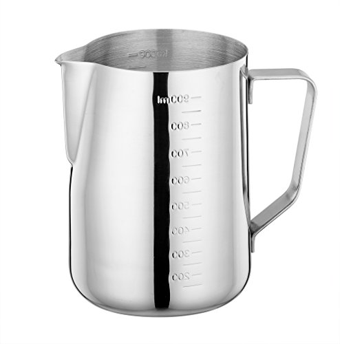 metal milk steaming pitcher - 9
