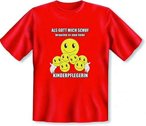 Lustiges Geschenk zum Geburtstag für eine Kinderpflegerin - T-Shirt als Geburtstagsgeschenk mit witzigen Smileys