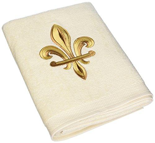 Avanti Fleur de Lis Bath Towel, Ivory