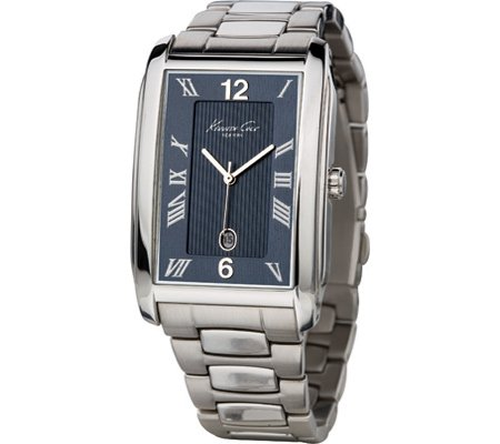 Kenneth Cole Mens Smart Stainless Steel Bracelet Strap Watch With Date Feature (Kenneth Date Cole Watch)