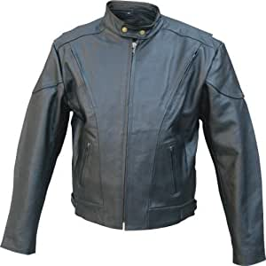 Amazon.com: Mens Naked Touring chamarra de piel para moto ...