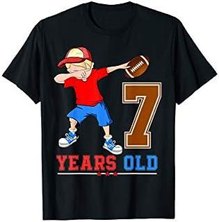 Cool Gift 7th Football Birthday  7 Dabbing Football Boys Tees Women Long Sleeve Funny Shirt