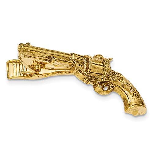 1928 Jewelry Gold-Tone Gun Textured Tie -