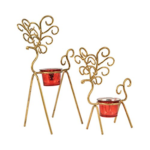 Traditional Décor Collection Prancer Set of 2 Votives