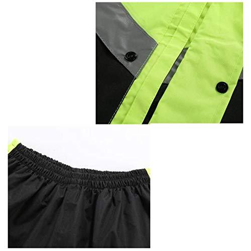 colore Xxl Tuta Plus Impermeabile Green Di Black Antipioggia Jxjjd Red Impermeabile Diviso Dimensioni Poliestere Doppio Fibra Riutilizzabile Black ZRqCv