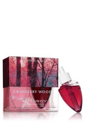 Bath and Body Works Slatkin & Co. CRANBERRY WOODS Wallflower Refills 2 Bulbs