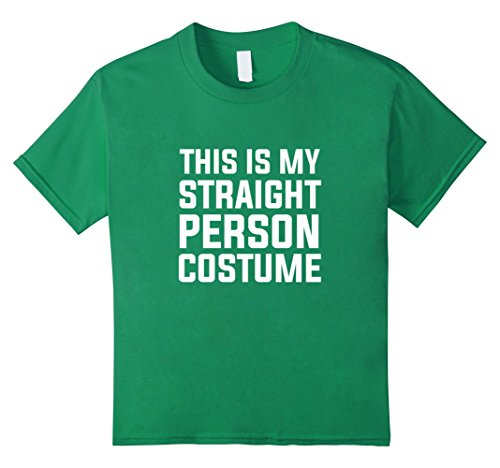 Kids This is my Straight Person Costume Funny Bi LGBT Humor Shirt 4 Kelly Green (4 Person Costume Ideas)