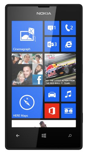 Nokia Lumia 520 GSM Unlock 3G Phone, 4-Inch Touch Screen, 5MP 720P Camera, Windows Phone - Black (International Version) by Nokia