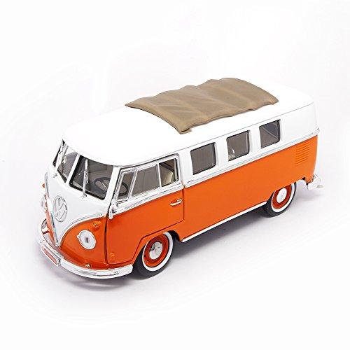 ROAD SIGNATURE 1962 Volkswagen Microbus Vehicle (1:18 Scale), Orange