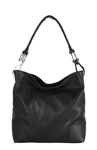Patent Leather Large Hobo (Rimen & Co. Soft PU Leather Hobo Womens Purse Handbag HS-3637)