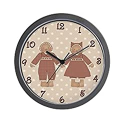 CafePress - Country Gingerbread Couple Wall Clock - Unique Decorative 10 Wall Clock