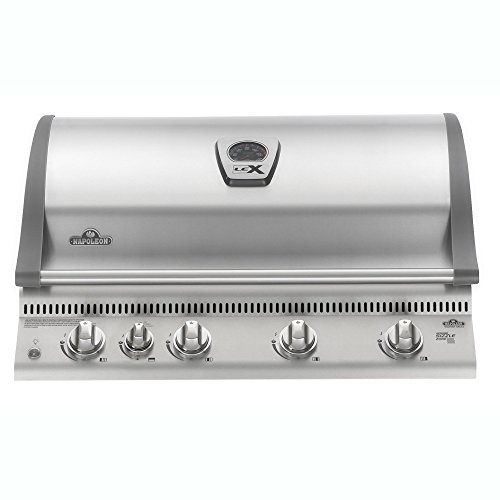 Napoleon LEX 605 Built-In Grill with Infrared Rotisserie (BILEX605RBINSS), Natural Gas (Natural Grill Gas In Drop)