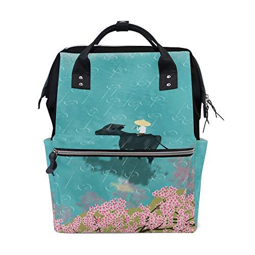 (Ching Ming Festival Pattern Daypacks Computer Bag,College Bag School Bookbag For Travel/Sport/Outdoor/Picnic/Teens/Boy/Girl )