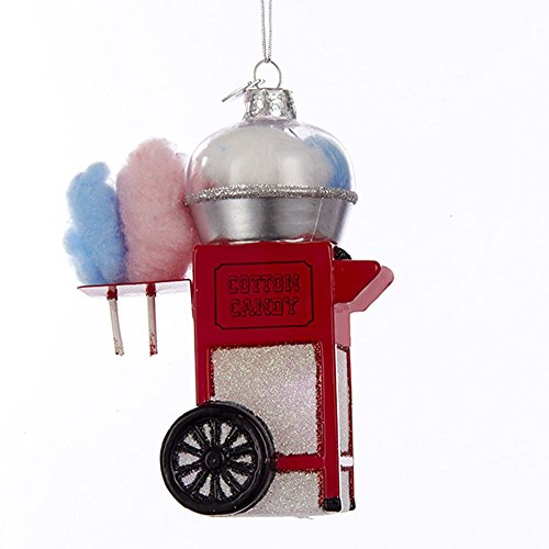 Cotton Christmas Ornaments - Kurt Adler Noble Gems Cotton Candy Machine Christmas Ornament