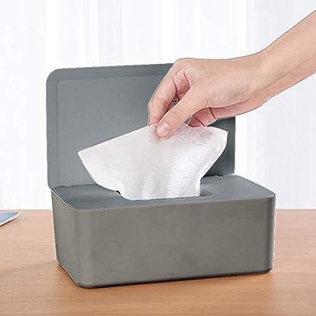 Escritorio o Coche Soporte con Tapa para el hogar dispensador de toallitas h/úmedas Hiqusc Caja de Almacenamiento de pa/ñuelos a Prueba de Polvo Oficina