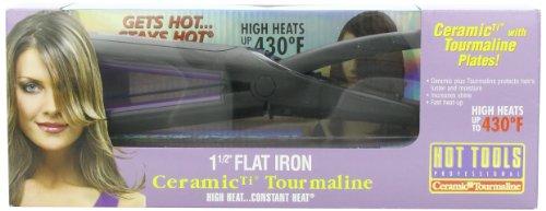 Hot Tools Professional 1199 Soft Heat Ceramic Ti Tourmaline 1-1/2 Inch Wide Flat Iron