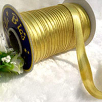 FidgetFidget Sewing Binding Tape Trim Cloth Hand Kit Satin Roll Edge 85-95m Gold by FidgetFidget