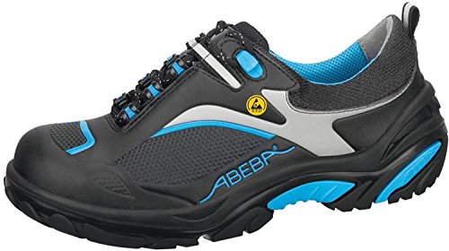 Abeba 34501-48 Crawler Chaussures de sécurité bas ESD Taille 48 Noir/Bleu