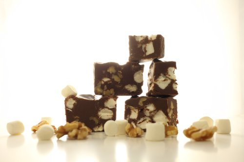Oh Fudge - Chocolate Rocky Road Fudge 1/2 Pound - The Oh Fudge Co. secret rocky road fudge recipe - rich, pure, delicious creamy chocolate infused with loads of marshmallows and walnuts- compared to Mo's Fudge Factor
