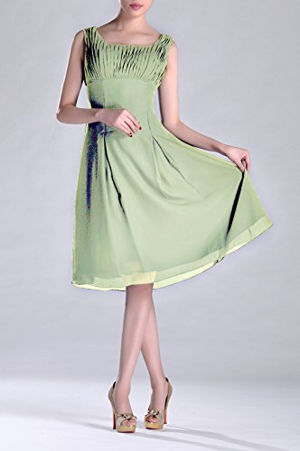 of Brides Formal Occasion Graugrün Length Mother Knee Special the Dress Pleated Bridesmaid xqwCaOYO