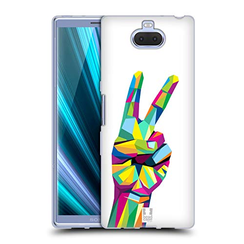 Head Case Designs Gesture Peace Emblems Soft Gel Case for Sony Xperia XA3 Ultra / 10 Plus