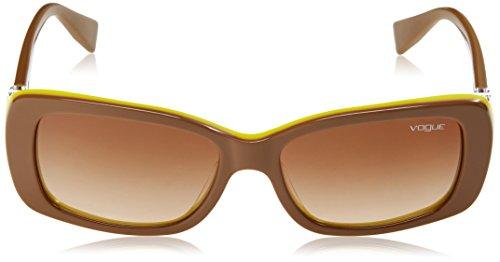 Marrón Vogue Sol de Brown 206713 Unisex Gafas Light Adulto Awx4Xw6qO