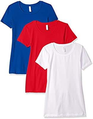 1510 Clementine Apparel Women/'s Short Sleeve T Shirt Easy Tag Crew Neck Soft Cotton Blend Undershirts