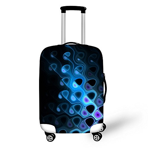 FOR U DESIGNS 22-26 Inch Middle Blue Luxury Spandex Luggage Cover Suitcase Protective Cover for Men Boys