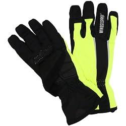 Gore Bike Wear Power Windstopper Soft Shell - Guantes de ciclismo para hombre, color negro/amarillo (black/neon yellow), talla 9