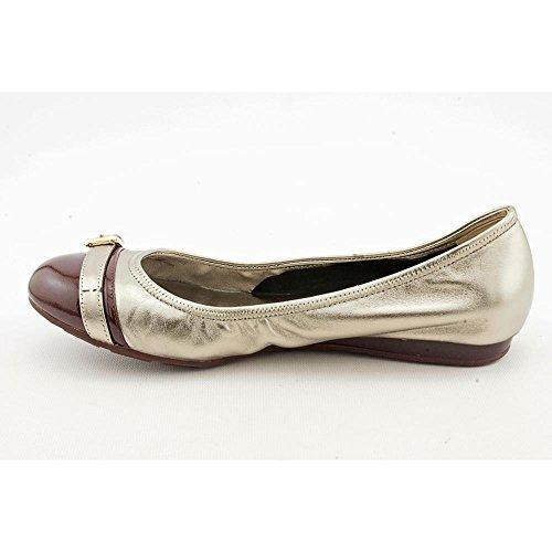 Cole Haan Mujeres Air Reesa Hebilla Ballet Plana, Plata, Tamaño 8.0