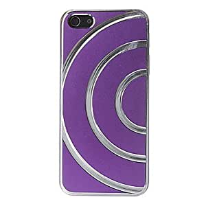 NEW Concentric Circles Brushed Glossy Plastic Case Cover for iPhone 5/5S , Brown