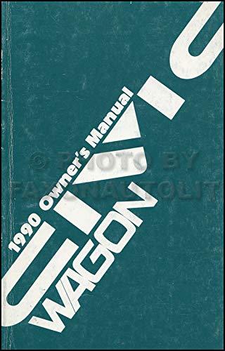 1990 Honda Civic 4WD Wagon Owner's Manual Original - Honda Civic 4wd