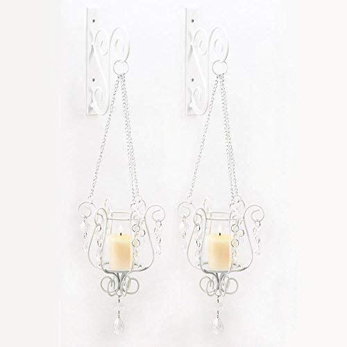 Wall Sconce Candle Holder, Set Of Two Candle Sconces Wall Decor With Hanger