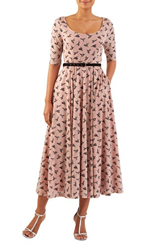 Buy belted cotton maxi dress - 5