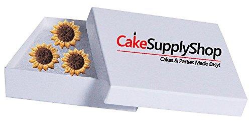 CakeSupplyShop Sunflower Edible Sugar Decorations for Cakes and Cupcakes/Food Decorations 12 count
